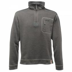 RMA081    Edgeland Half Zip Fleece  - Colour Seal Grey