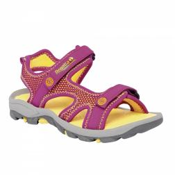 RKF299    Girls Ad-Flux II Sandals  - Colour Viola/Lemon