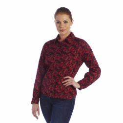 RWS032    Florry Floral Shirt  - Colour Dark Burgundy