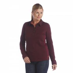 RWT058    If Only Long Sleeve Polo Shirt  - Colour Dark Burgundy