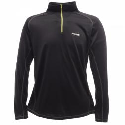 RMU018    Mens Base ZipNeck  - Colour Black