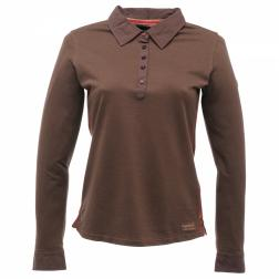 RWT058    If Only Long Sleeve Polo Shirt  - Colour Otter