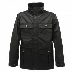 RMN021    Hoxton Wax Jacket  - Colour Black