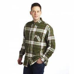 RMS061    Lumbar Sherpa Shirt  - Colour Racing Green