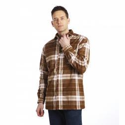 RMS061    Lumbar Sherpa Shirt  - Colour Leather