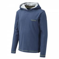 CKT453    NosiLife Graphic Hooded Top  - Colour Faded Indigo