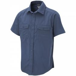 CMS339    Kiwi Short-Sleeved Shirt  - Colour Faded Indigo