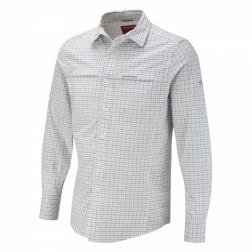 CMS405    NosiLife Long-Sleeved Check Shirt  - Colour Granite