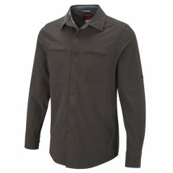 CMS406    NosiLife Long-Sleeve Stretch Shirt  - Colour Dark Bark