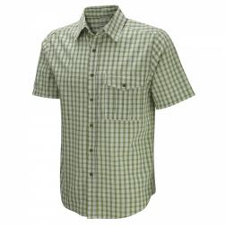 CMS413    Essential Short-Sleeved Shirt  - Colour Larch Green