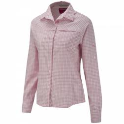 CWS364    NosiLife Long-Sleeved Check Shirt  - Colour Light Geranium