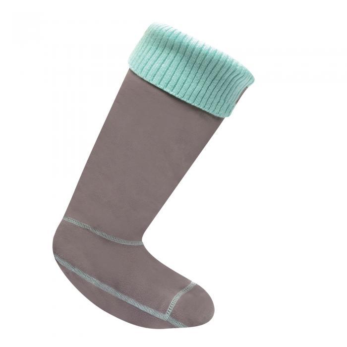 Knitted Cuff Wellington Sock Shark AngelBlue