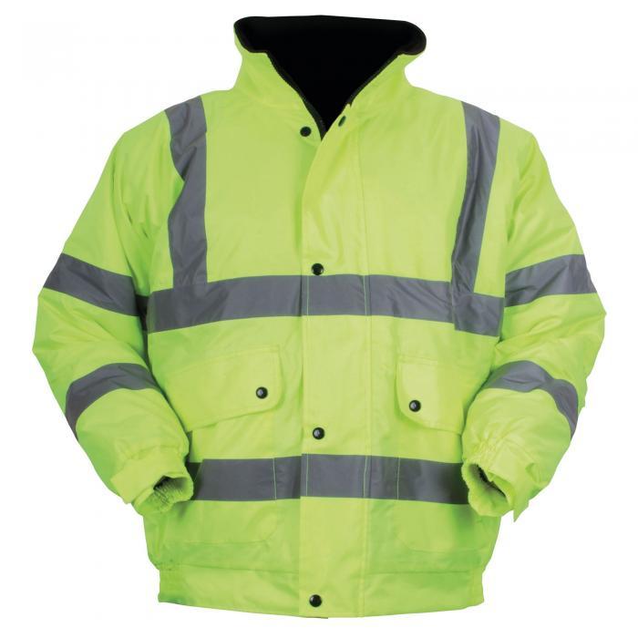 Hi-Vis Bomber Jacket Yellow