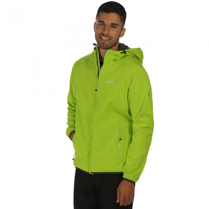 Arec Softshell Jacket Lime Seal Grey