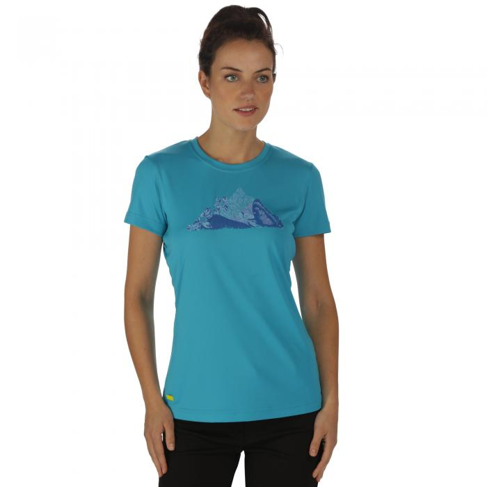 Women's Fingal II T-Shirt Fluro Blue