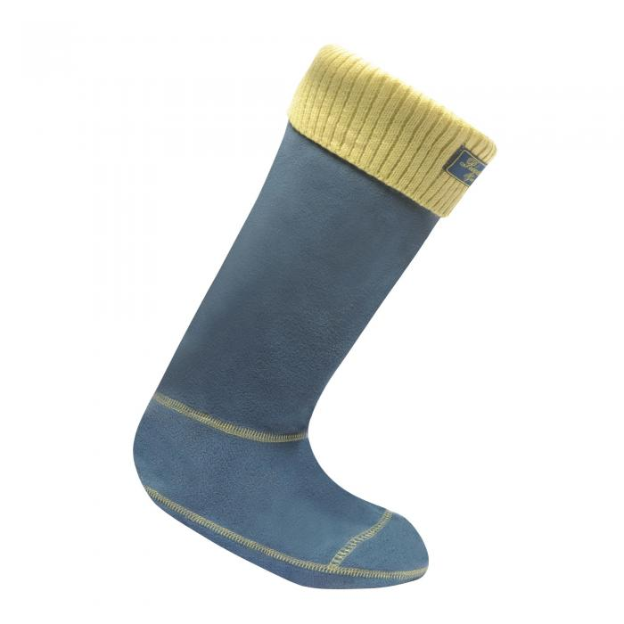 Knitted Cuff Wellington Sock Mallard Blue