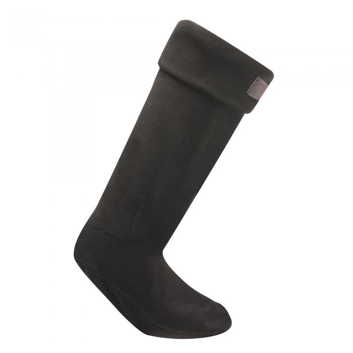 Fleece Wellington Socks Black