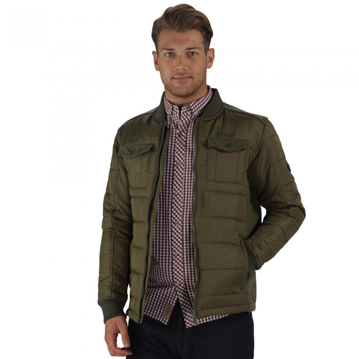Larrie Quilted Jacket Olive Night