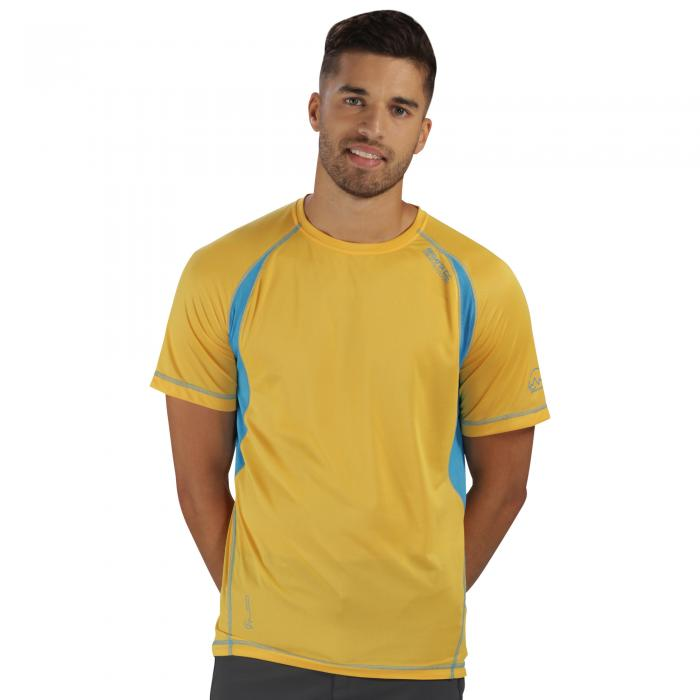Volito II T-Shirt Gold Hydro Blue