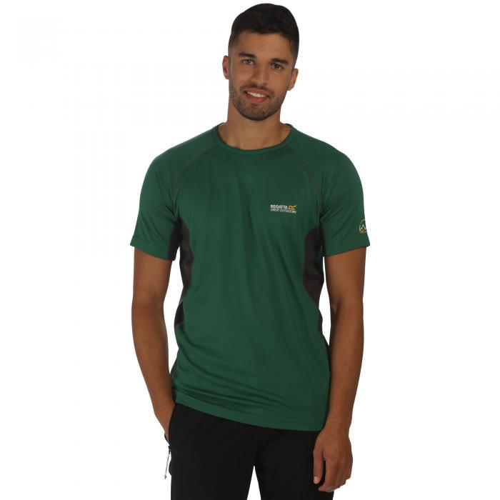 Virda T-Shirt Hunter Green Grey