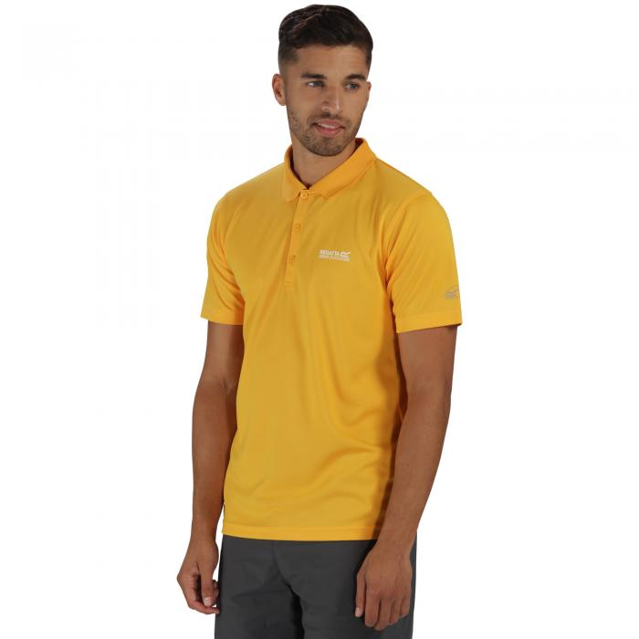 Maverik III Polo Shirt Gold Heat