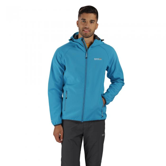 Arec Softshell Jacket Blue Seal Grey
