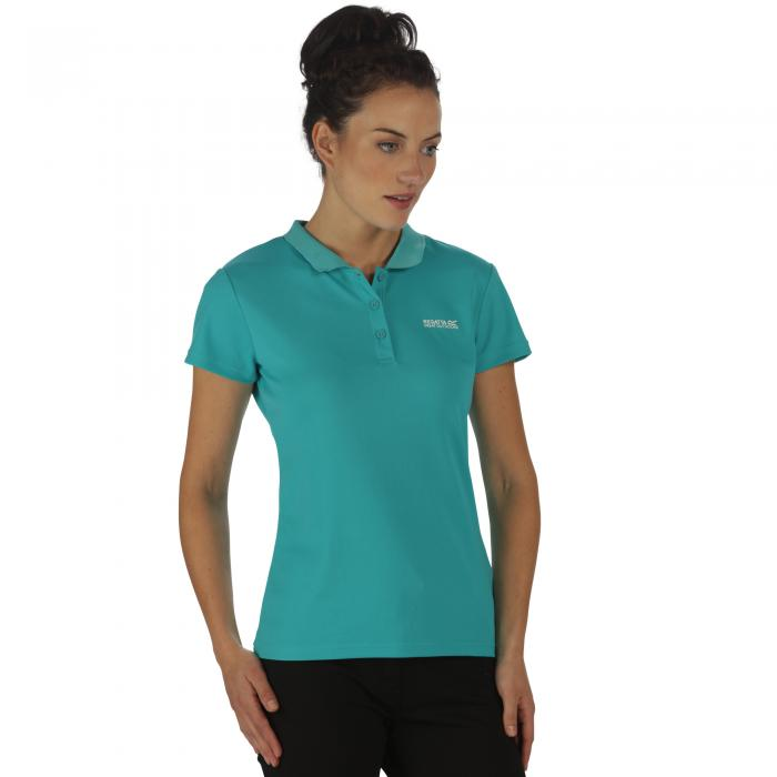 Women's Maverik III Polo Shirt Atlantis