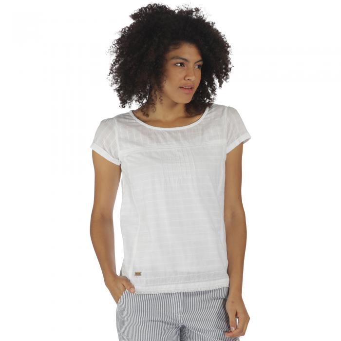 Feronia T-Shirt White Dobby