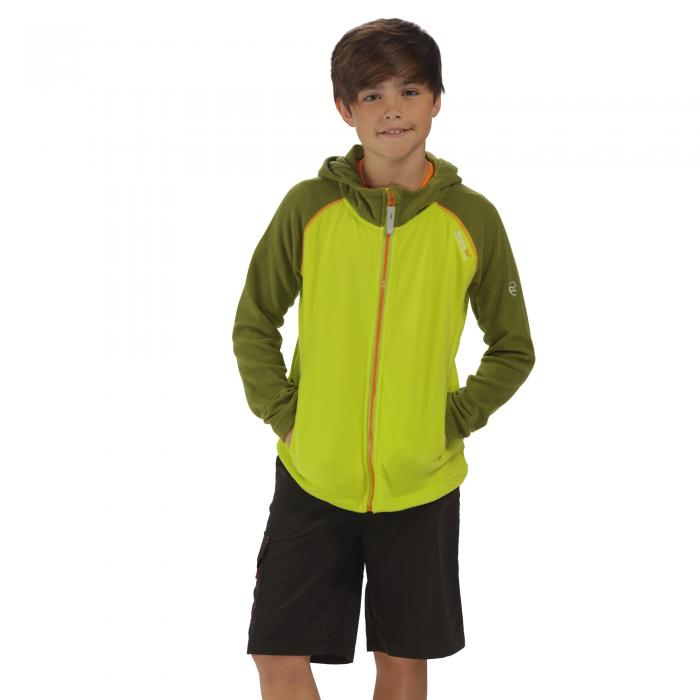Upflow Hooded Fleece Lime Green