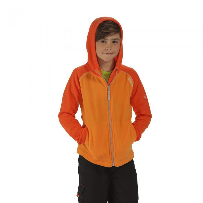 Upflow Hooded Fleece Orange Magma