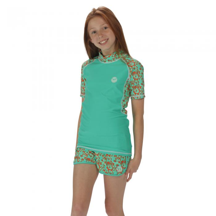 Girls Frilla Shorts Pale Jade