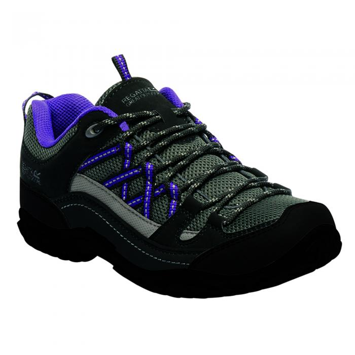 Lady Edgepoint Low Walking Shoe Black Purple
