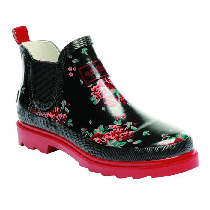 Lady Harper Low Wellington Boot Black Molten
