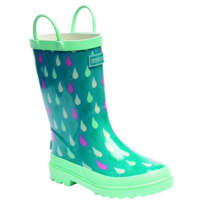 Minnow Junior Wellington Boot Aqua Mint Green