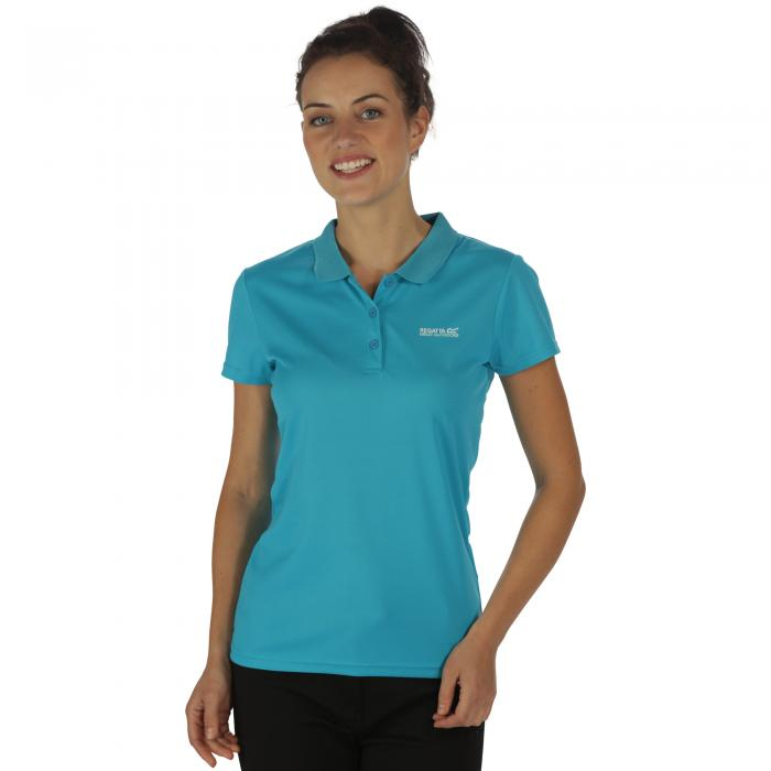 Women's Maverik III Polo Shirt Fluro Blue
