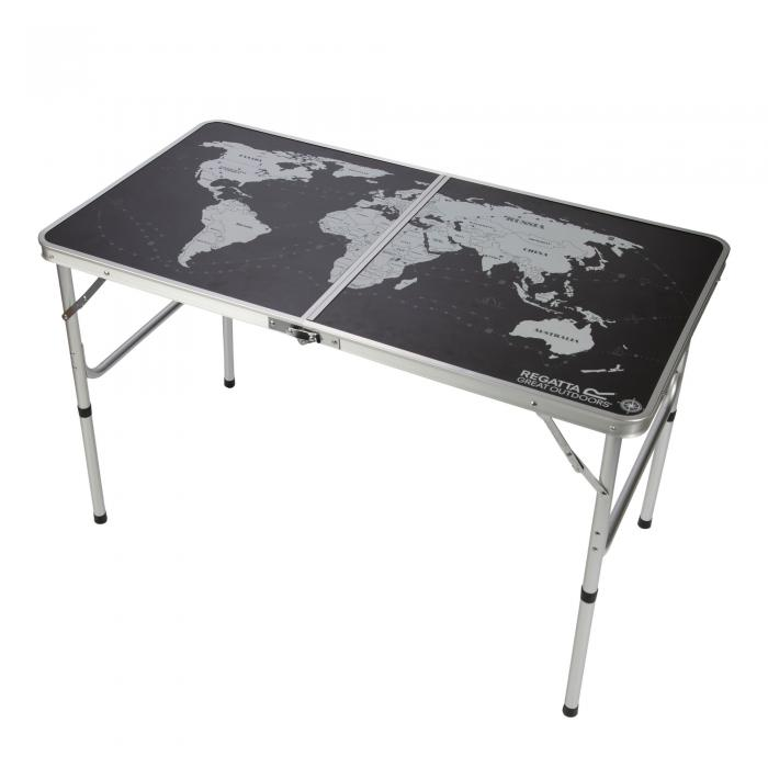 Folding Games Table Black Silver