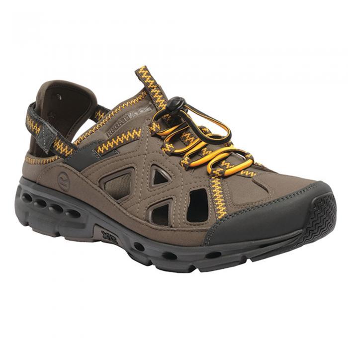 Ripcord Sandal Walnut Gold