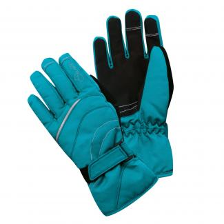 Girls Hand Pick Ski Glove Enamel Blue
