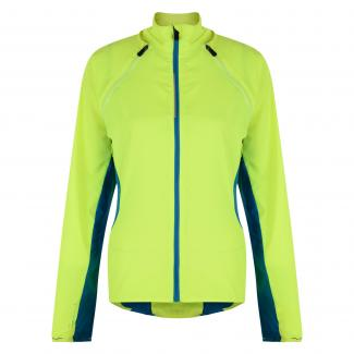 Womens Unveil Windshell Jacket Fluro Yellow