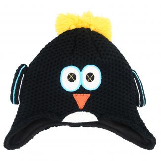 Boys Irratic Beanie - Black