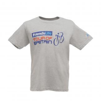 Tour of Britain 2014 Route Kids T-Shirt - Grey
