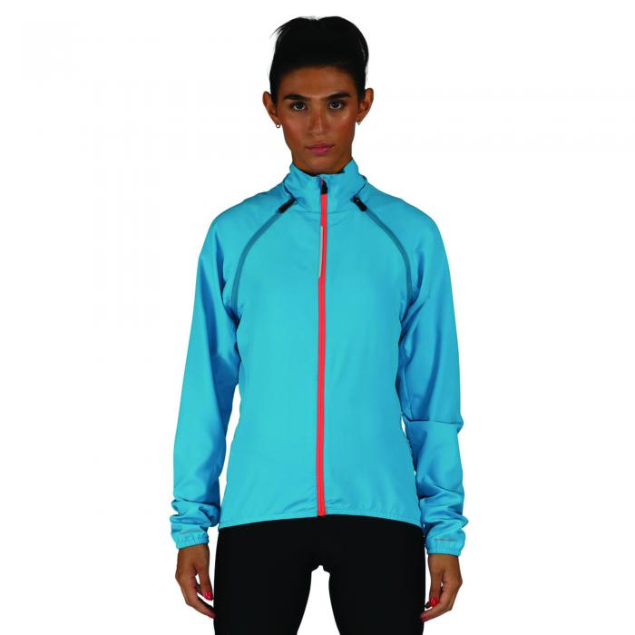 Womens Unveil Windshell Jacket Fluro Blue