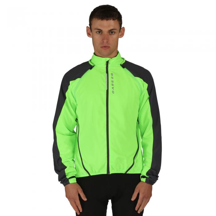 Unveil Windshell Jacket Neon Ebony
