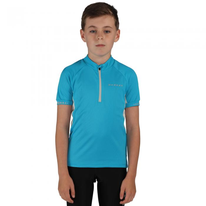 Kids Protege II Cycle Jersey Fluro Blue
