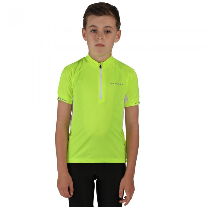 Kids Protege II Cycle Jersey Fluro Yellow