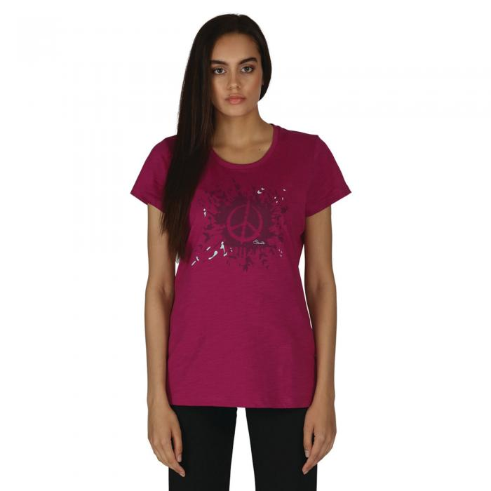 Peace Out T-Shirt Camellia Purple