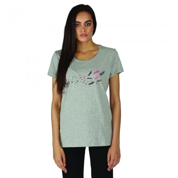 Feathery T-Shirt Ash Grey Marl