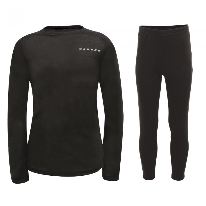 Kids Simmer Down Base Layer Set - Black