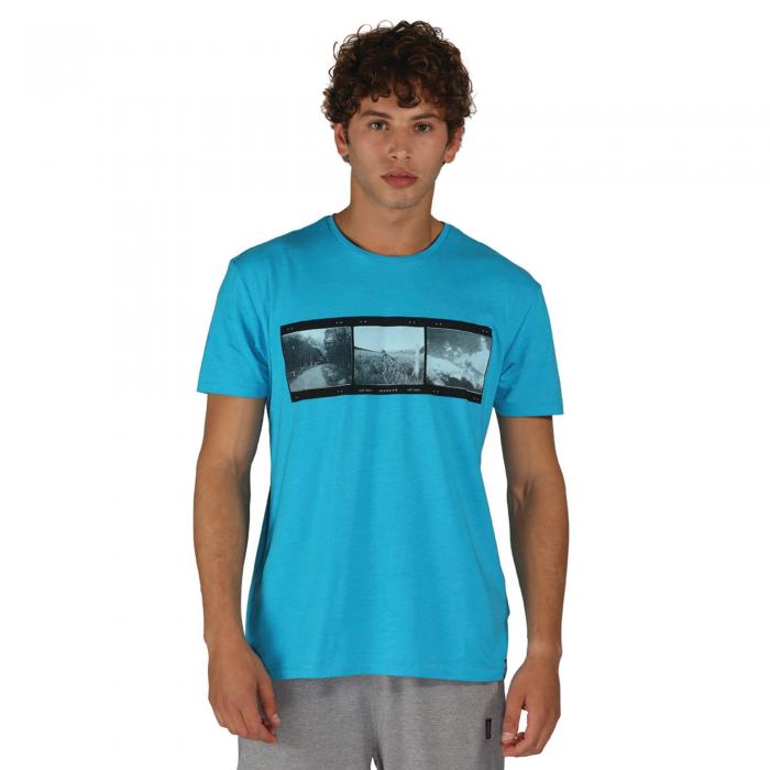 Negatives T-Shirt Fluro Blue