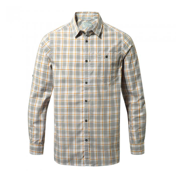 Brentwood Long Sleeved Shirt Quarry Grey Combo